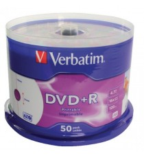 Verbatim DVDplusR 16X 4.7GB Spindle Pk50