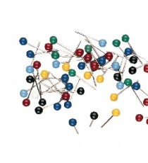 Map Pins Assorted Pk100 26941