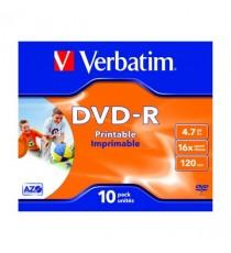 Verbatim DVD-R 16X I/jet Printable 43521