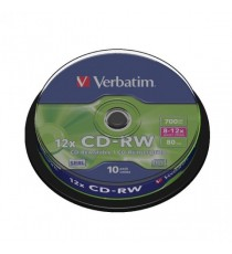 Verbatim CD-RW 8-12X Spindle Pk10 43480