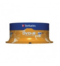 Verbatim DVD-R 16x Spindle Pk25 43522