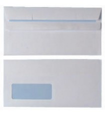 Envelope S/S DL Wdw 90g Wht Pk1000