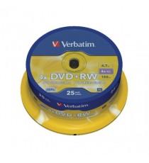 Verbatim DVD+RW 4x Spindle Pk25 43489