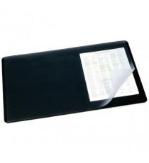 Durable 520x650mm Clear/Black Desk Mat