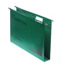 Rexel Crystalfile 30mm Latrl File Grn P25