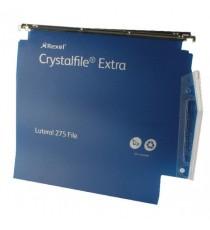 Rexel Crystalfile 30mm Latrl File Blu P25