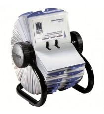 Rolodex Black 200-Slve Rotary Card File