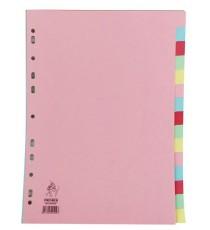A4 Manilla Divider 15-Pt Pink/Multi Tabs