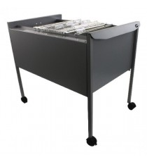 REXEL FILING TROLLEY 100 FILES GREY