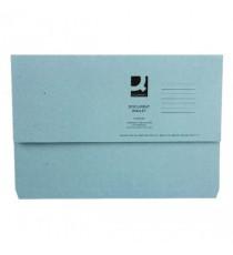 Blue Document Wallet 220gsm