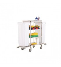 Maid Service Trolley with White Bags