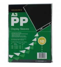 Goldline PP Display Sleeve A3 Pk10