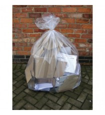 2Work Clear Wheelie Bin Liner Pk100
