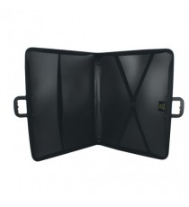 Goldline Zip Portfolio A3 Black