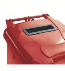 FD 140L Locked Red Wheelie Bin 377903