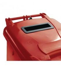 FD 240L Locked Red Wheelie Bin 377909