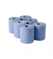 1 Ply Blue Centrefeed Pk6