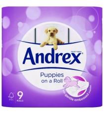 Andrex Pups White Bathroom Tissue Pk9