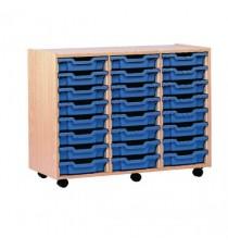 FF Jemini Mob Storage Unit 24 Tray Beech