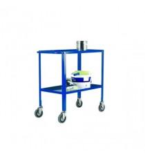 Blue Service Trolley 2-Tier 125mm Castor