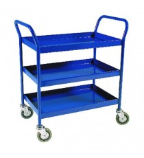 Service Trolley 3-Tier Fixed Blue 306764