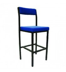 FF Jemini High Stool Backrest Blu