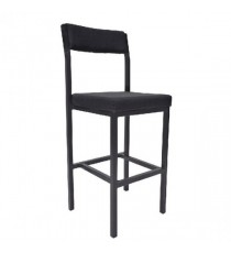 FF Jemini High Stool Back Rest Charcoal