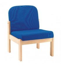 FF Arista Blue Reception Seat Bch Veneer