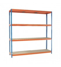 Orange/Zinc 2500X2400Xd700mm Shelving