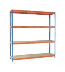 Orange/Zinc 2500X2400Xd900mm Shelving