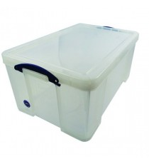 Really Useful Clear 64L Storage Box 64C
