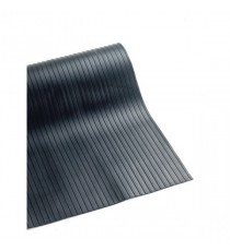 Broad Ribbed Black 3mm 900mmX10m Mat