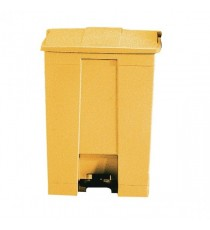 Yellow Step On Waste Container 87 Ltr