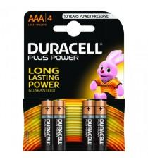Duracell Plus AAA Battery Pk4