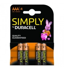 Duracell Simply Batt Pk4 AAA 81235219