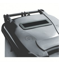Grey Confidential Wheelie Bin 140Ltr