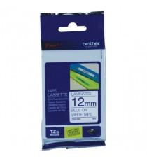 Brother Blue/White TZe Tape 12mm TZE233