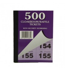 Cloakroom and Raffle Tickets 1-500 Pk12