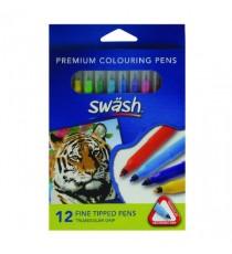 Swash Kmfigrp Pen Fine Ast Pk12 TW12F