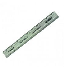 Q-Connect Ruler Shatterproof 30cm White