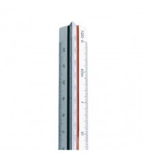 Linex Tri Scale Ruler 1 to 500 30cm Wht