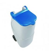 Recycling Wheelie Bin 90L Non-Lock Blue