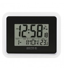 Acctim Lancia RC Desk/Wall Clock Sil/Wht
