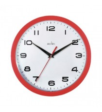 Acctim Red Aylesbury Plastic Wall Clock