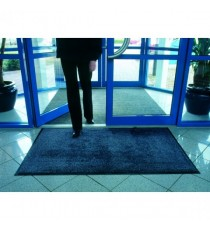 Blk/Blue Entrance Mat Washable 115x175cm