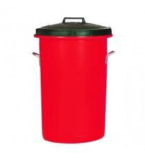 H Duty Red Colour Dustbin 85Ltr 311969