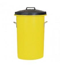 Yellow 85 Ltr H Duty Coloured Dustbin
