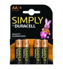 Duracell Simply Batt Pk4 AA 81235210