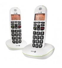 Doro BigBtn DECT 2Pk Wht PHONEEASY 100WD