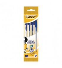 Bic Cristal Med Ball Pens Pch 4 Blu